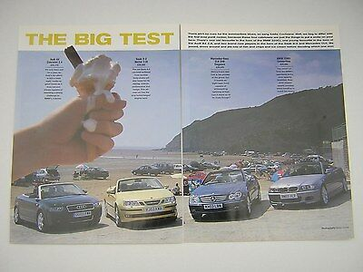 Saab 9-3 Vector 2.0t v Audi A4 Cab 2.4 v BMW 320Ci Conv v CLK 240 Test from 2003