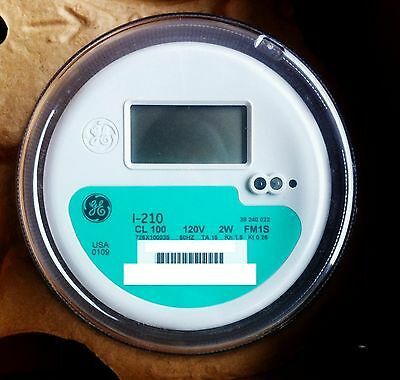 GENERAL ELECTRIC (GE) WATTHOUR METER (KWH), MODEL I-210, VOLTS 120, 100A, FM1S