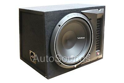 """New Rockford Fosgate P2-1X12 800 W 12"""" Loaded Enclosure with P2D2-12 Subwoofer"""
