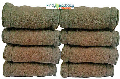 10Charcoal Bamboo Inserts/Liners/Boosters for Modern Cloth Nappy/Diaper Washable