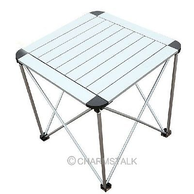 Outdoor Portable Garden Roll Up Folding Camping Picnic Dining Table Aluminum