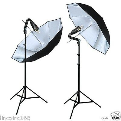 Photography Stand Studio Flash Strobe Slave Light Lighting Kit
