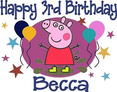 Peppa Pig Inspired Personalized Birthday T-shirt Custom Tee Bday Tee Peppa Shirt