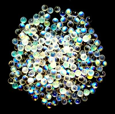 M00581 MOREZMORE Opalescent Moonstone Glass Microbeads Micro Beads 5 mm 1 oz