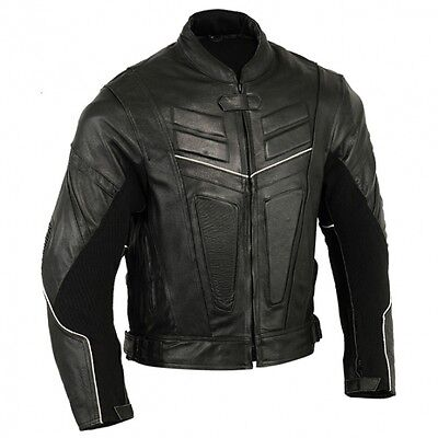 Protec Motorbike Leather Jacket Motorcycle Protection Armour