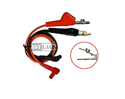 """Test Cable Lead [18""""] Alligator Clip Bed of Nails to Banana Plug (#998-005)"""