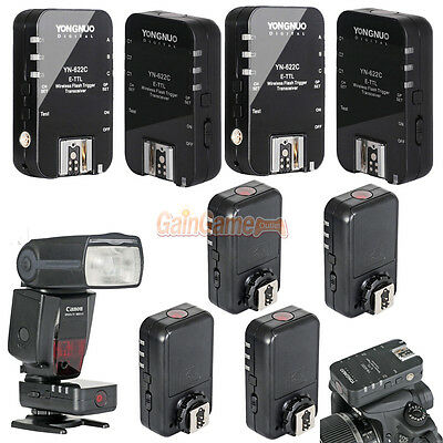 Yongnuo Wireless TTL YN 622C Flash Trigger for Canon 7D 50D 40D 450D 500D 5DII