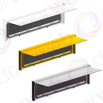 LETTER PLATE BOX Door Flap Draught Excluder Brush Seal Letterbox Cover ALUMINIUM