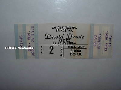 DAVID BOWIE Unused 1978 Concert Ticket FRESNO Selland Arena HEROES TOUR Rare