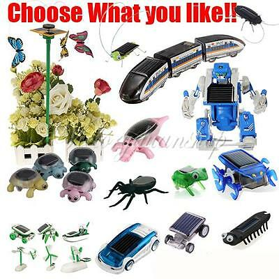 13 Kinds of Animals Educational Solar Juguetes Solar Power Toy Butterfly Etc.