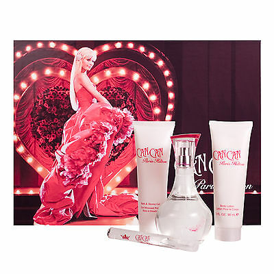Can Can 4 Piece Gift Set For Women 3.4 oz.EDP Spray By Paris Hilton