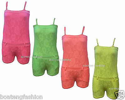 girls summer playsuit kids holiday onesie childrens clothing all in one