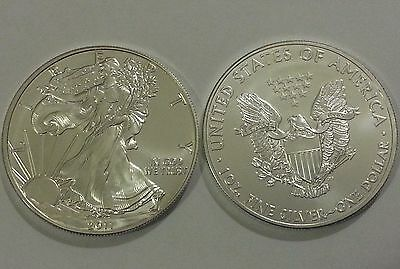 2011 1 oz Silver American Eagle Coin One Troy OZ.999 Bullion NEW! vs. Maple Leaf