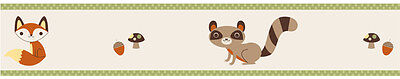 Sweet Jojo Designs Forest Friends Animal Baby Kid Wall Paper Border Wallcovering
