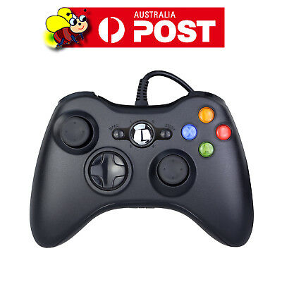 Black Xbox 360 Wired Controller for Windows & Xbox 360 Console PC USB Wired