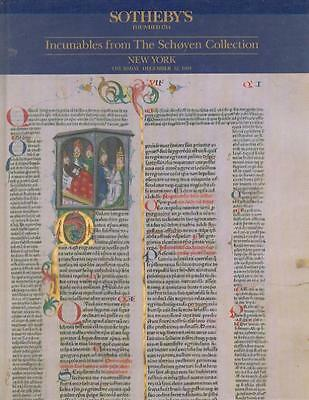 Sotheby's Incunables From The Schoyen Collection Auction Catalog HC
