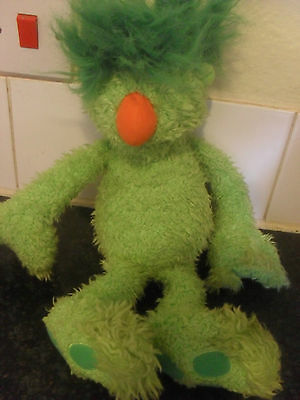 Rare Jim Henson Talking Hoob Green Groove Tomy Toy Fwo 15""