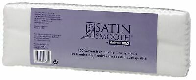 Babyliss Pro Satin Smooth Woven Body Legs Hair Removal Waxing Strips Pack of 100