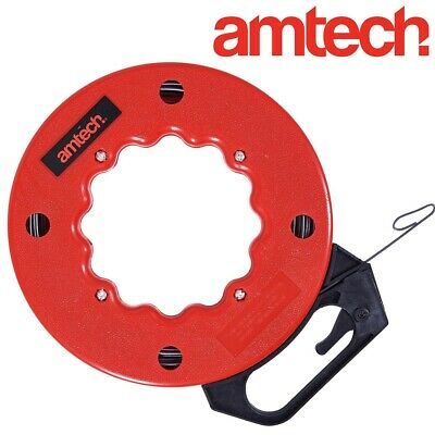 50FT ELECTRICIAN FISH TAPE Cable/Wire Access Puller Conduit Drywall Threader NEW