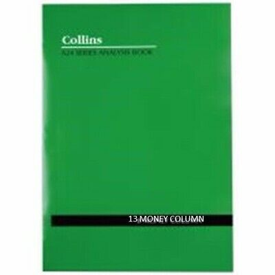 2 x Collins A24 A4 Account Book 13 Money Column Soft Cover 48P  10213*