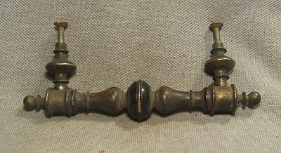 Antique Victorian Wood & Brass Dresser Drawer Pull Handle Authentic HW-094