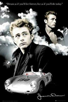 ACTOR POSTER James Dean Clouds