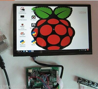"10.1"" inch IPS  LCD  Display ModuleHDMI+VGA+2AV Driver Board for Raspberry Pi"