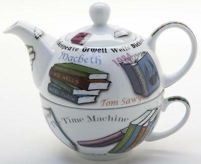 New boxed Paul Cardew book lovers NOVEL-TEA tea for one teapot, pot & cup