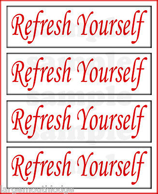 REFRESH YOURSELF 2 INCH GUMBALL MACHINE DECAL COKE RED