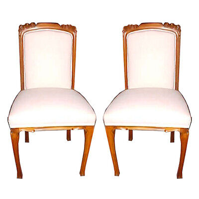 Pair of Art Nouveau Side Chairs, France 1900-1950 #5230 • £933.31