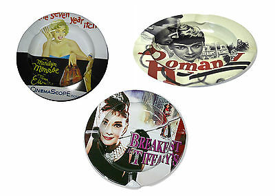 RETRO Marilyn Monroe Audrey Hepburn Aschenbecher Ashtray Ascher Imbiss Cendrier