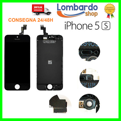 Touch Screen + Lcd Display Retina + Frame Per Apple Iphone 5S Vetro Schermo Nero