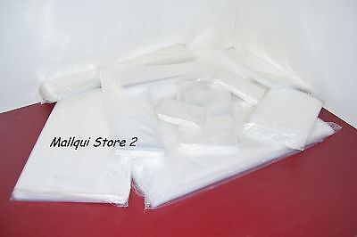 100 CLEAR 5 x 16 POLY BAGS PLASTIC LAY FLAT OPEN TOP PACKING ULINE BEST 2 MIL