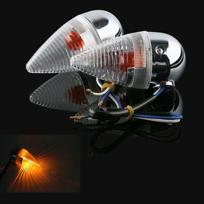 2X Clear Bullet Rear Turn Signal For YAMAHA XV1900 2006-2013 07 08 09 10 11 12