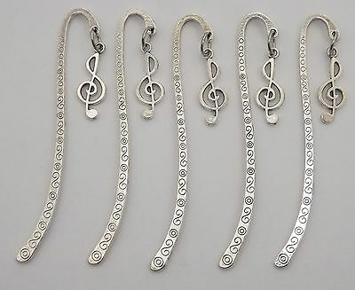 Music mini bookmark, girls birthday party bag filler, treble clef gift idea