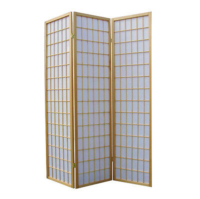 Brand New Solid Timber 3 Panel Wooden Clear Varnish Colour Screen Room Divider