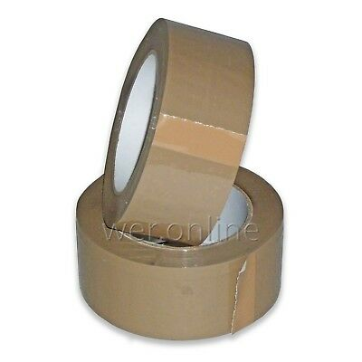 LONG LENGTH PACKING PARCEL TAPE STRONG - BROWN / CLEAR / FRAGILE 48mm x 66M