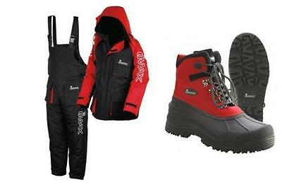 New Imax Thermo Suit 2Pc Thermal Lining Sea Fishing 100% Waterproof + Imax Boots