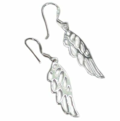 Angel Wings sterling silver drop earrings .925 x 1 pair Angels wing CER7594