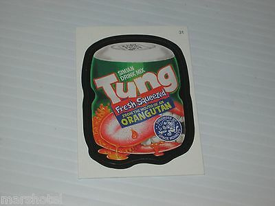 TOPPS WACKY PACKAGES #31 TUNG ORANGE DRINK SPOOF PARODY TRADING CARD