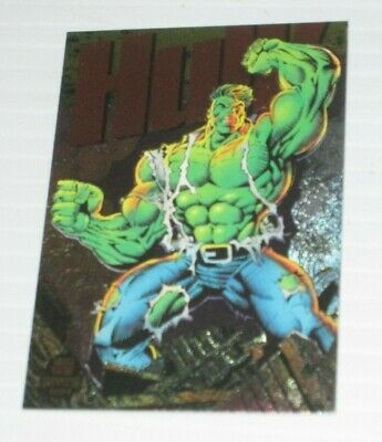 MARVEL COMICS  INCREDIBLE HULK POWER BLAST FOIL TRADING CARD 1994 FLEER