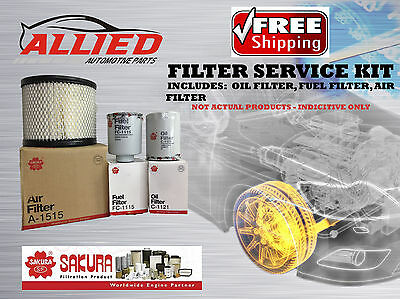 Filter Service Kit AIR OIL FUEL TOYOTA LANDCRUISER FZJ105 1998-2002 1FZFE FSK030
