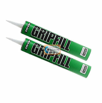 2 Tubes 350ml GRIPFILL Green Gap Fill Adhesive High Performance No Nails Grip
