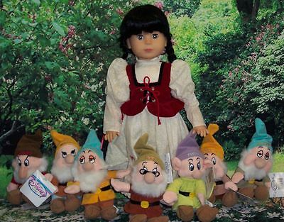 Gotz Doll, Limited Edition Snow White made in 1988+The Seven Dwarfs+Storybook