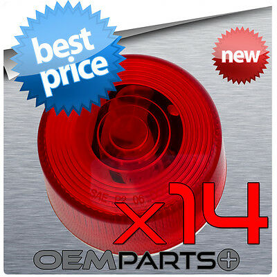 14X New Red Round Clearance Side Marker Truck Trailer Light Wires Usa