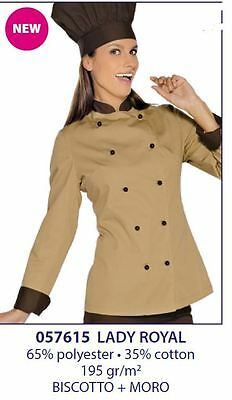 Giacca Cuoca Donna Lady Royal  Biscotto Moro  Isacco . Chef Lady Jacket
