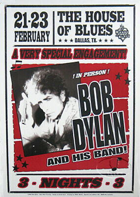 Bob Dylan 2008 House Of Blues Special Engagement Poster Dallas Tour Rehearsal