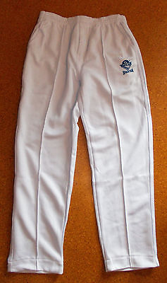 "Mens Cricket Pants WHITE with "" SPARTAN""  LOGO sizes S-XL &16"