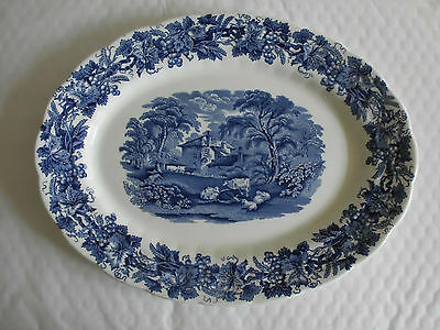 Booths British Scenery Small Oval 28cm Plate