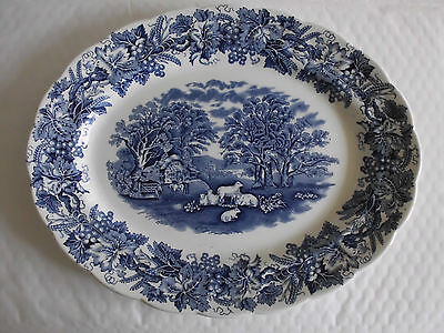 Booths British Scenery Oval 32cm Platter